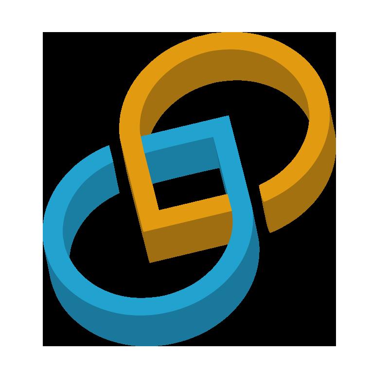 Logo tridimensionale di Fiberdroid